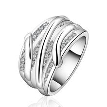 R572 2017 new 925 sterling silver rings men wide thick rings with stone crystal rings for women fashion jewelry vintage bague(China)