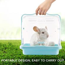 Hamster Cage Small Pet Small Animal Take Hamster Ornamental Cage Cute Portable Cage Pet Nest Crystal Small Animal Habitat 8in1 nm cage cleaner cleansing and deodorizing agent for small animal cells spray 710 ml 5057846