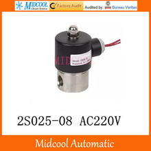 2S025-08 AC220V  stainless steel  solenoid valve water port 1/4″ 2.5mm