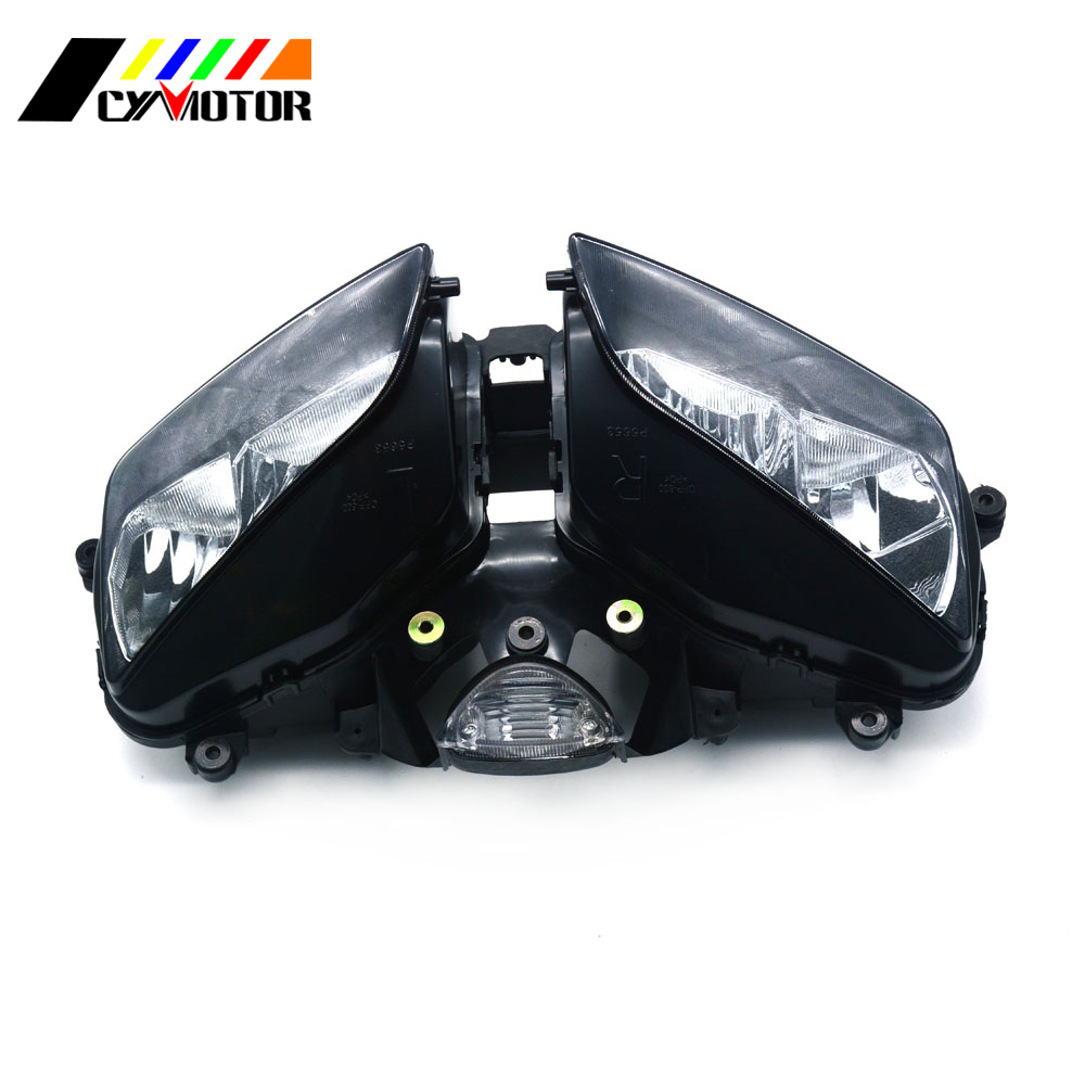 Motorcycle Front Headlight Headlamp For HONDA CBR600RR CBR 600RR CBR600 RR 2003 2004 2005 2006 03 04 05 06 Street Bike for honda cbr 600 rr 2003 2004 injection abs plastic motorcycle fairing kit bodywork cbr 600rr 03 04 cbr600rr cbr600 rr cb18