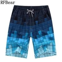 RFBear Brand Hot Selling Board Shorts 2017 New Man Summer Fashion Casual Shorts Plaid Quick Drying