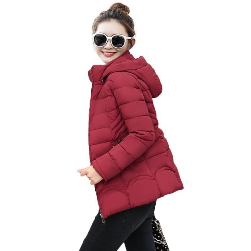 2018 hooded women winter jacket short cotton padded womens winter coat autumn fashion casaco feminino inverno slim Female parkas