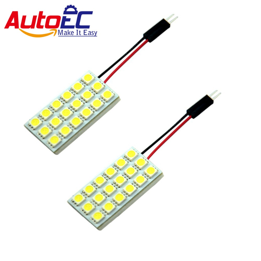 AutoEC 100x LED Dome Panel Light 18 SMD 5050 LED Car Interior Map Roof Reading Working light Festoon T10 Ba9s adapter #LL11 зимняя шина goodyear ultra grip performance gen 1 245 40 r18 97w