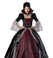 Cosplay Costumes/Party Costumes Ghost / Zombie / Vampires Halloween / Christmas / Carnival Red / Black Vintage Dress Halloween/C