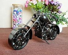Big Size Retro Iron Metal Harley Motocycle Model Scooter Vehicle Toy for Children Kid Birthday Christmas Gift Craft  home Decor