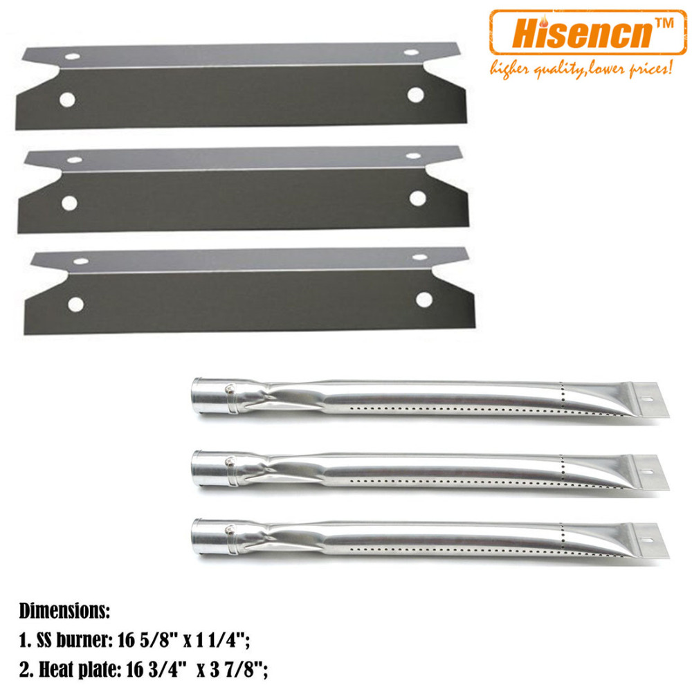 Hisencn Bbq Parts Ss Burner Tube Heat Plate Shield Mitsubishi Hc3000 Projector Schematics Replacement For Brinkmann 4040 810 Charmglow Gas Barbeque Grills