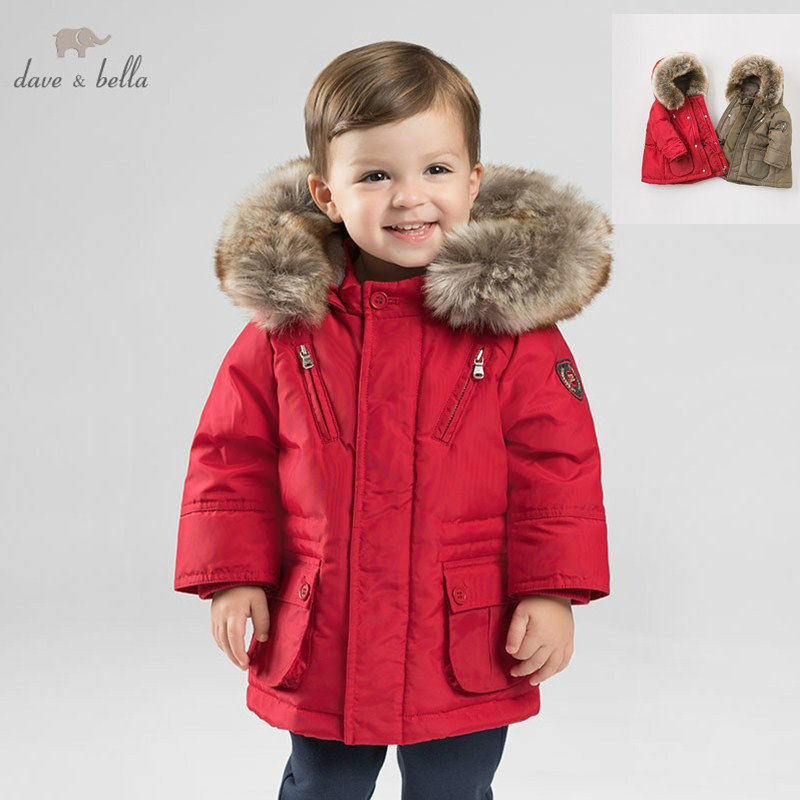 DB8695 dave bella baby boy down jacket children hooded outerwear infant toddler boutique 90% duck down padding coat with big furDB8695 dave bella baby boy down jacket children hooded outerwear infant toddler boutique 90% duck down padding coat with big fur