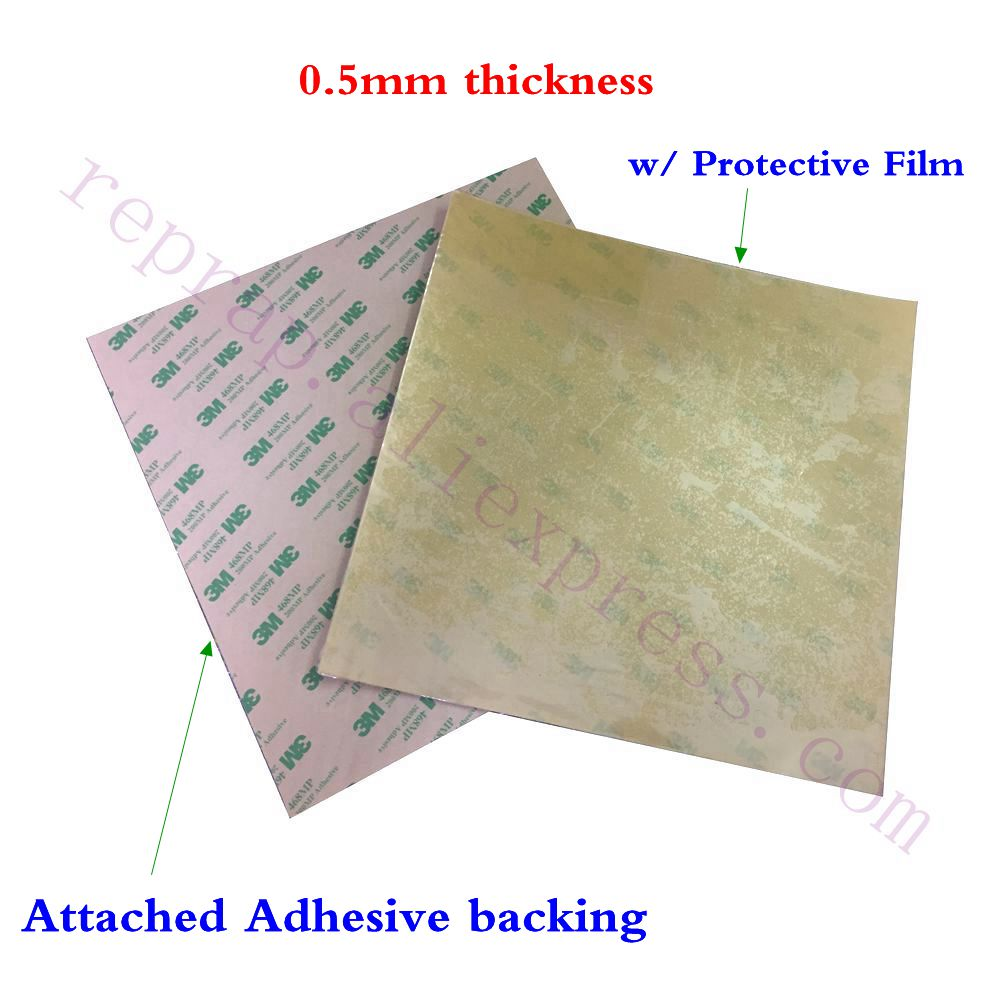 2pcs Imported 220x220mm PEI Sheet 0 5mm Thickness W Adhesive Tape Backing For WanHao Prusa I3