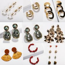 Girlgo Fashion ZA Earrings Mix Styles Earrings For Women Ethnic Vintage Wedding Jewelry Boho Party Drop Earrings Dangle Bijoux(China)