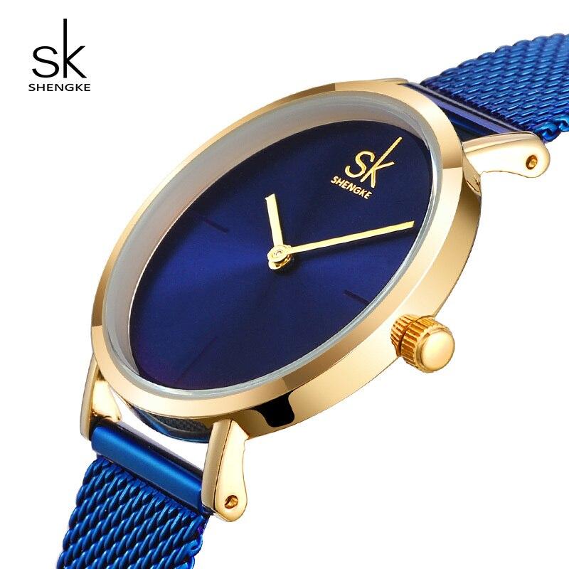 Shengke Wrist Watch Women Fashion Steel Quartz Watches Bracelet Clock Relogio Feminino 2018 SK Creative Ladies Watches #K0043