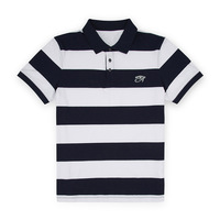 Mens Eyes of Horus Embroidered Knit Striped Short Sleeve Polo Shirts