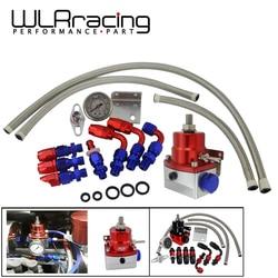 WLR uniwersalny regulowany Regulator ciśnienia paliwa z manometrem + przewód paliwowy AN6 + zestaw końcowy w Regulator ciśnienia oleju od Samochody i motocykle na
