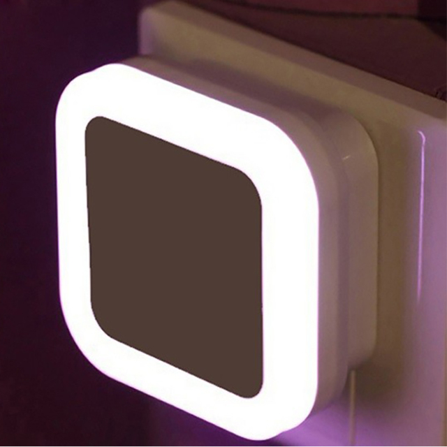 Smart led night light square round nightlight light sensor 220v us smart led night light square round nightlight light sensor 220v us plug bedroom bathroom toilet wall aloadofball Choice Image