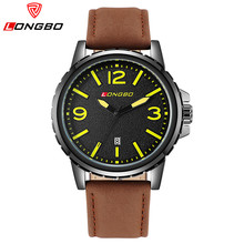 LONGBO Marca de Lujo Relogio masculino Moda Hombres Deportes Relojes Hombre Reloj de Los Hombres de Los Hombres de Cuarzo Ocasional Impermeable Reloj de Pulsera 80182G