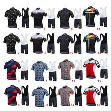 Cycling Bike Short Sleeve Jersey + Bib Shorts Set Suit Sportwear S-XXXL