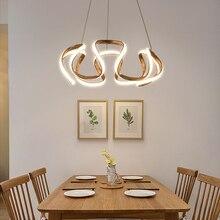 Żyrandol led nowoczesne oświetlenie dla hoome jadalnia salon dekoracyjna kuchnia restauracja wiszące lampy napowietrzne żyrandole