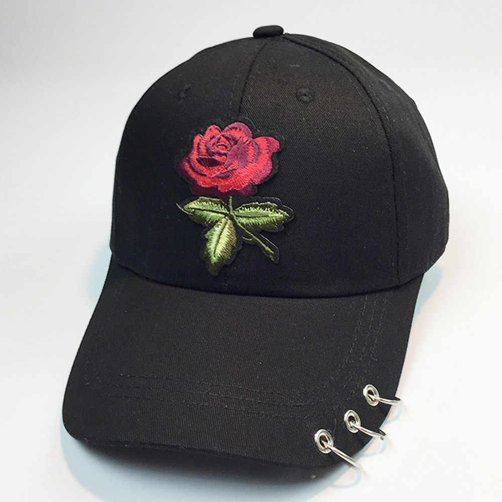 92ba8eb323b Detail Feedback Questions about JAYCOSIN 1PC Baseball Cap Men Women  Embroidery Rose Hat Unconstructed Fashion Unisex Cap hats With Ring Sunhat  Dance Run ...