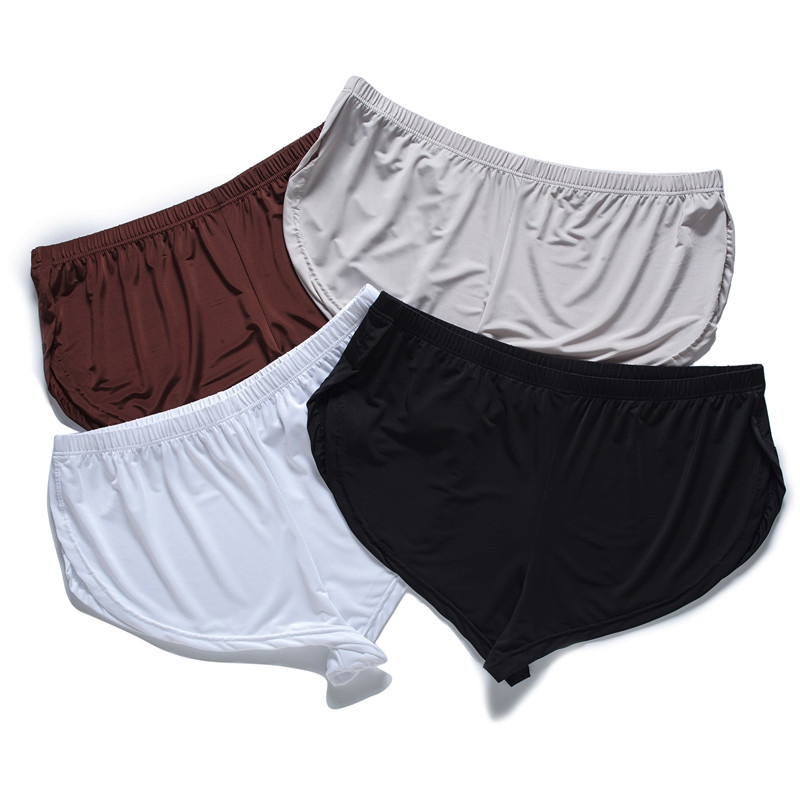1 PCS Men Summer Ice Silk Split Casual Men's Shorts Breathable Male Casual Comfortable Shorts