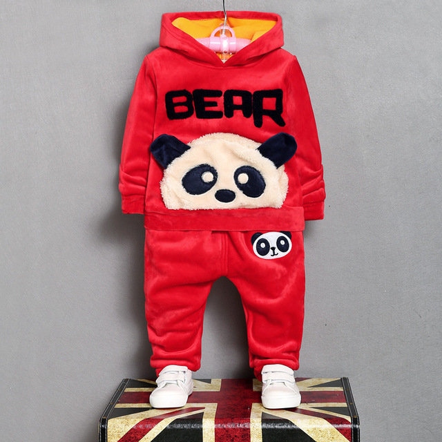 2017 new kids clothing girls and boys Warm sports suit autumn and winter baby children clothes hoodies suit 1-4 years old kids