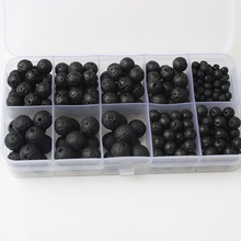 LanLi  300pc/box packed 4/6/8/10mm Natural Volcanic Lava Stone beads DIY men and women Bracelet necklace jewelry accessories