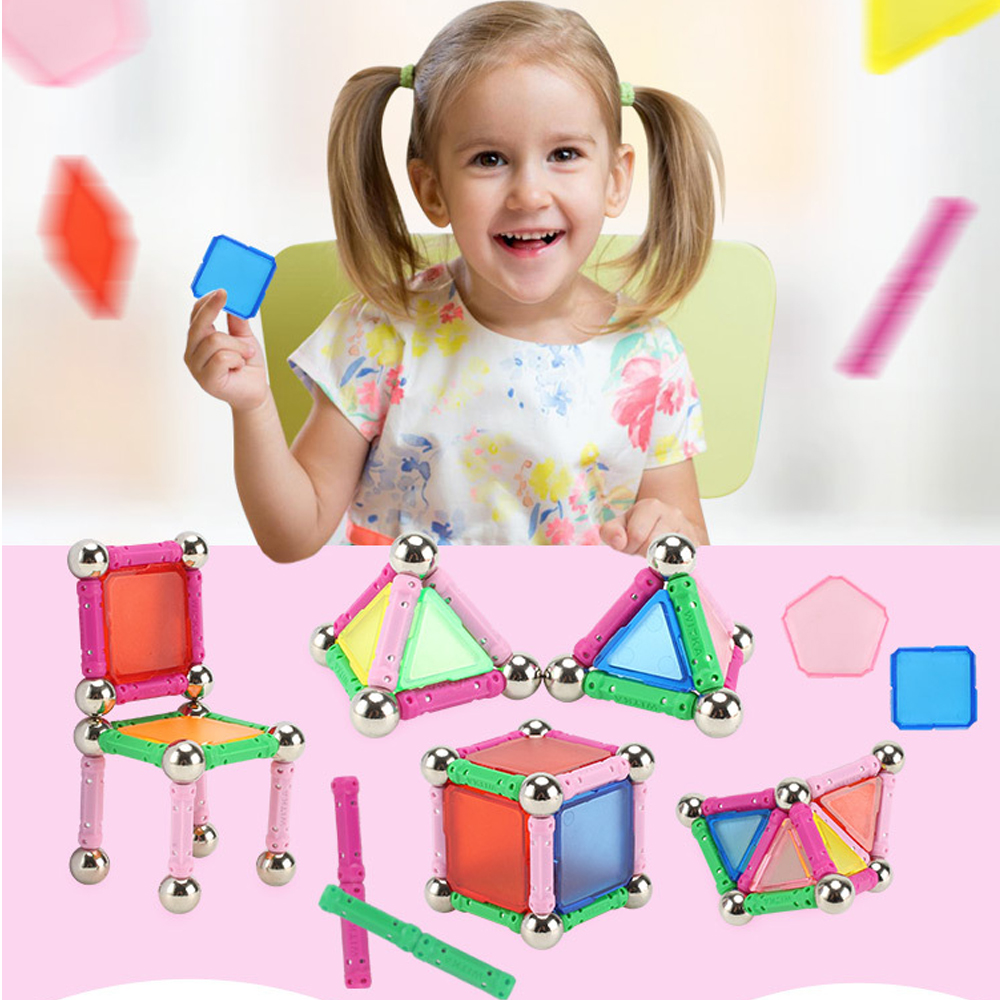 50 Pcs Magnetic Building Sticks Construction Blocks Kids Educational Toys Gift