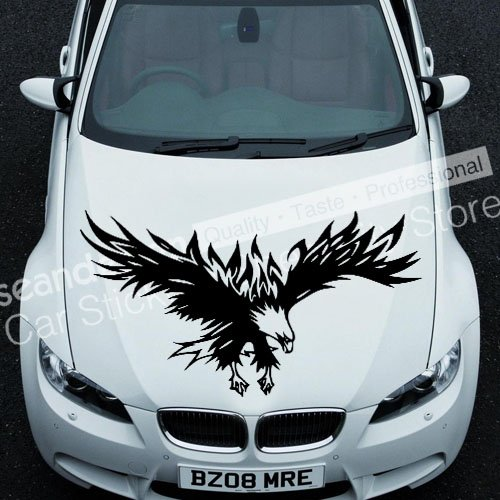 Cool! Totem Eagle Series TT023 B Auto Car Decal Sticker PVC (noir, blanc, rouge, gris)