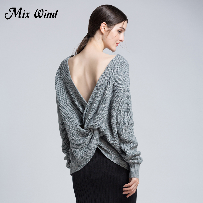 Mix Wind 2017 Autumn And Winter New font b Women S b font V Neck Halter