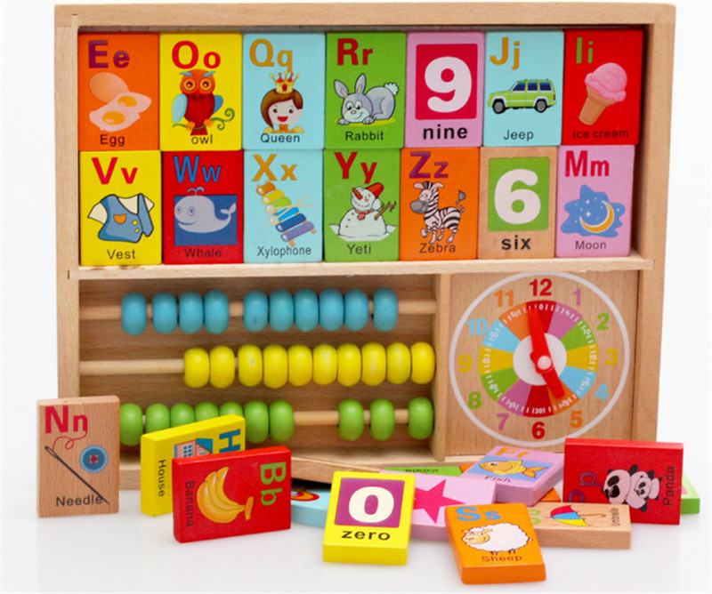 New wooden toy Multifunction cognitive box baby educational Free shipping