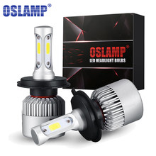 Oslamp LED Headlight Bulbs H4 Hi-Lo Beam H7 H11 H1 H3 9005 9006 COB 72W 8000lm 6500K Auto Headlamp Car Led Light Bulb DC12v 24v(China)