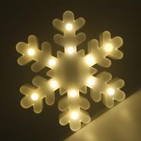 ندفة الثلج شكل الجنية ضوء الليل abs البلاستيك أدى مكتب مصباح طاولة غرفة جو حفل زفاف الديكور هدية تأثيث المنزل