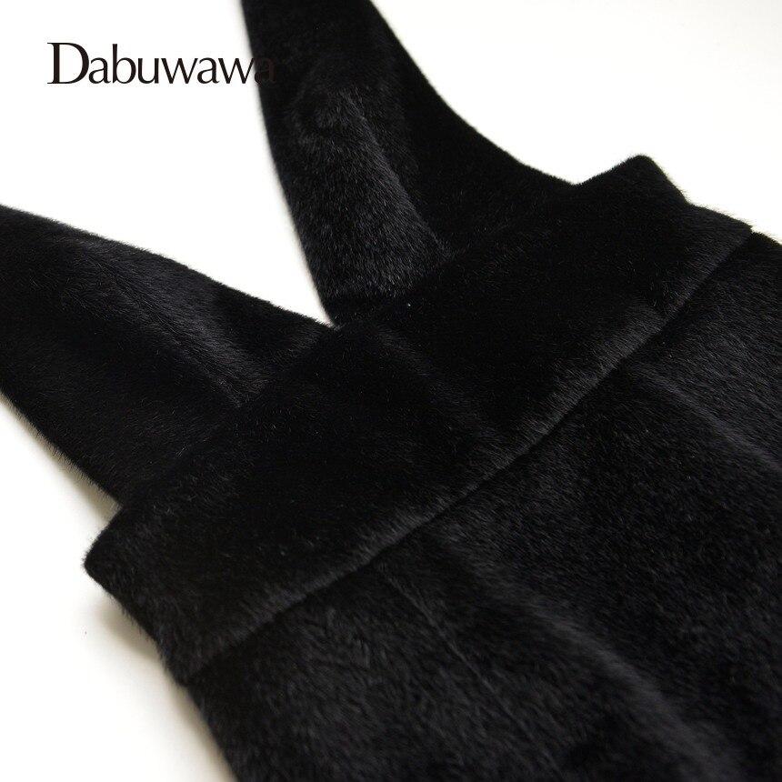Dabuwawa Black Velvet Skirt Elegant Sequines Sheath Skirts For Juniors Knee Length Tight Sexy Slim Skirt Female #D15DRS004