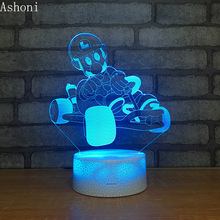 купить Super Mario Figure 3D Table Lamp LED Night Light 7 Colors Changing Bedroom Sleep Lighting Home Decor Kids Gifts дешево