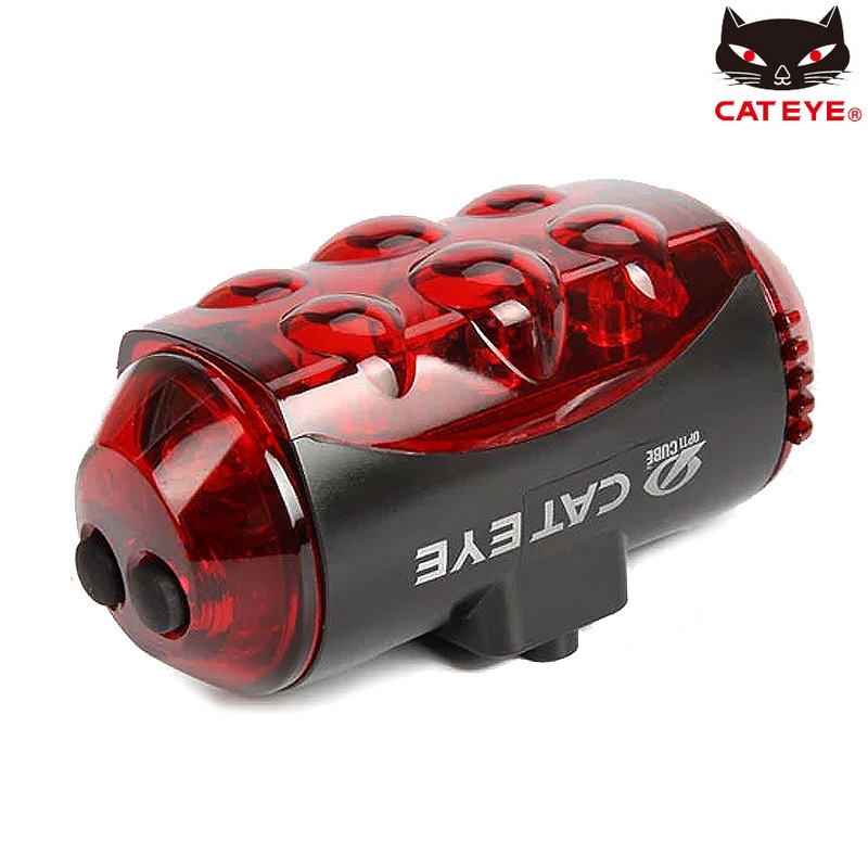 CATEYE Super Light Bicycle Taillight Mountain Bike Safety Rear Light Cycling LED Flashlight Road Bike 4 Flashing Mode Warning ultrafire u 100 4 led 4 mode 2400lm white bike light headlamp black deep pink