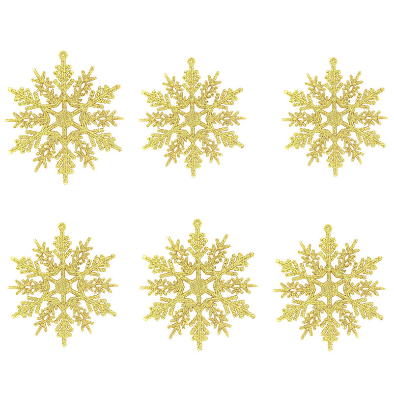 6pc Christmas Decoration Snowflakes 10cm Classic Snowflake Ornaments Christmas Tree Hanging new year Home Decor #4n14 (1)
