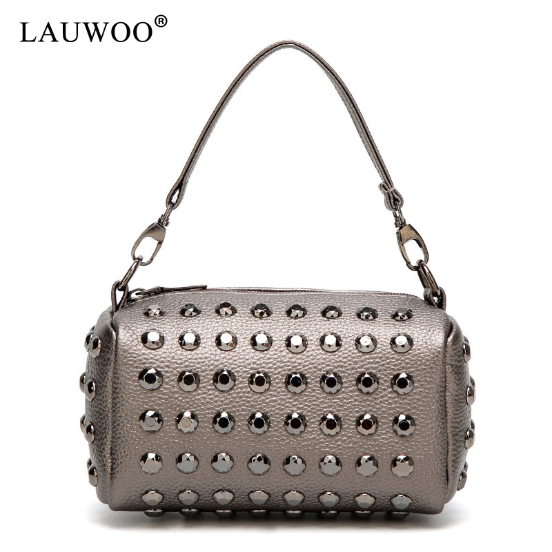 LAUWOO Beaocly women shoulder bag for women handbag purse with rivets female crossbody bags clutch messenger bag for girls