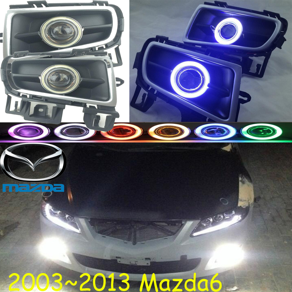 MAZD6 fog light ,2003~2013,Atenza, Free ship! MAZD 6 daytime light,2ps/set+wire ON/OFF:Halogen/HID XENON+Ballast,MAZD6 2011 2013 golf6 fog light 2pcs set wire of harness golf6 halogen light 4300k free ship golf6 headlight golf 6