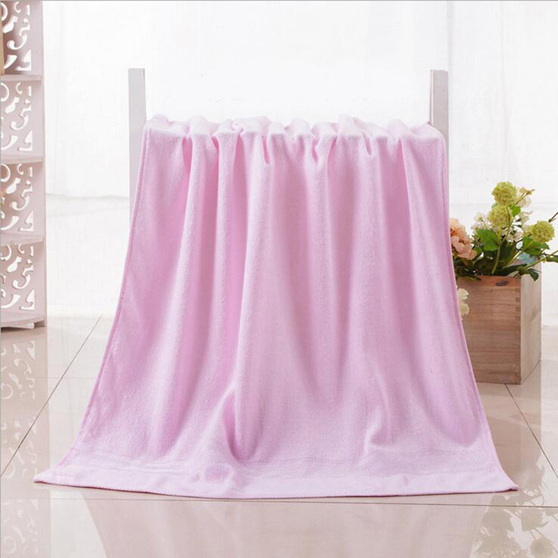 Bamboo Microfiber Beach Towel Terry Towels Plain Color Quick-Dry Eco-friendly Ultra Soft for Bath Shower Hotel Products