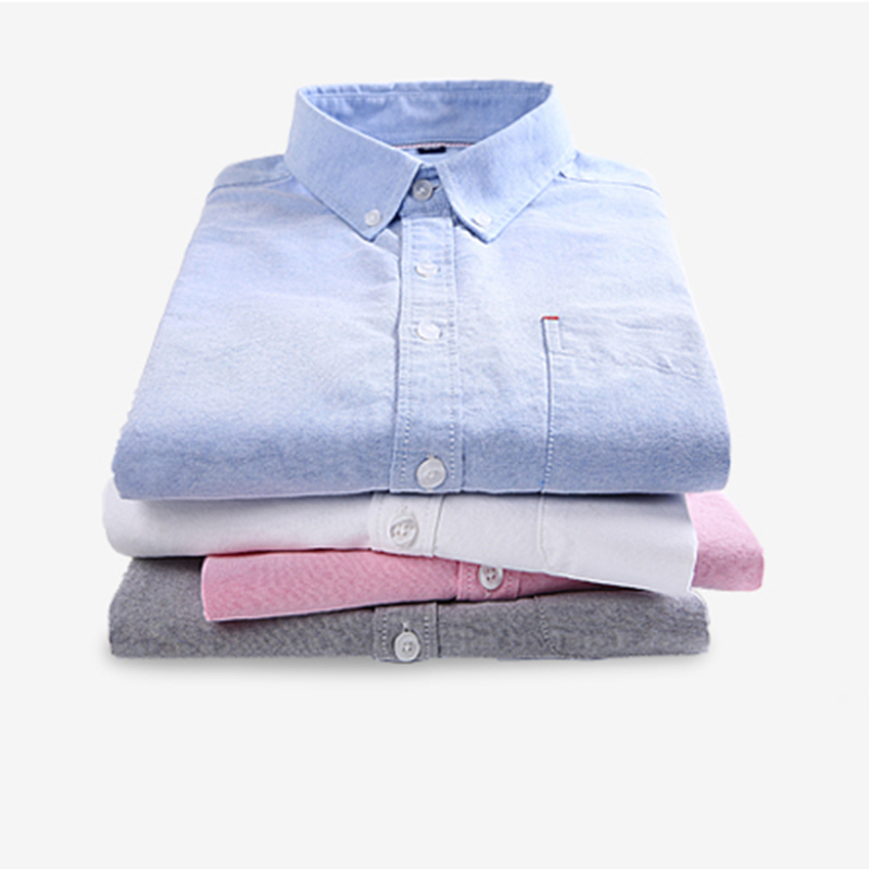 Comfortable soft 100 cotton solid striped shirt oxford for Soft cotton dress shirts