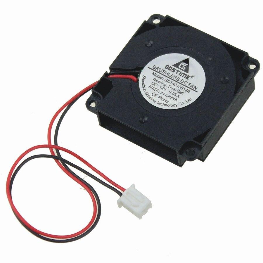 цены на 5pcs Gdstime Mini 40mm x 40mm x 10mm DC 12V Dual Ball Brushless 3D Printer Blower Cooling Fan в интернет-магазинах