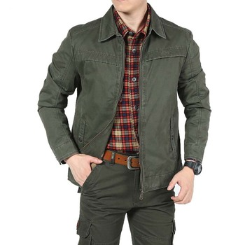 Big Size Men Smart Casual Jacket for Spring Autumn Winter Jackets Military Cotton Coat Tactical Army Green Plus Size 3XL