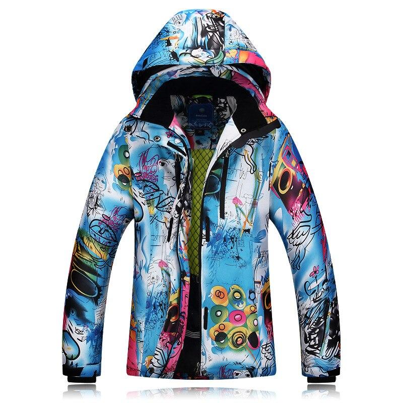 2018 Winter Camping Hiking Skiing Women Ski Jacket Breathable Sportswear Hooded Female Waterproof Outerwear Snowboard Jacket недорого
