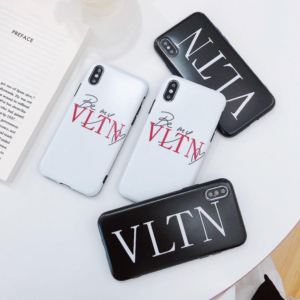 brand new 4f706 9b43b US $2.05 29% OFF|Luxury Valentino Phone Case For iphone 6 s 7 7plus 8 8Plus  X XS 10 XR MAX Fashion Tide Italy Brand Soft Silicone Cover Coque-in ...