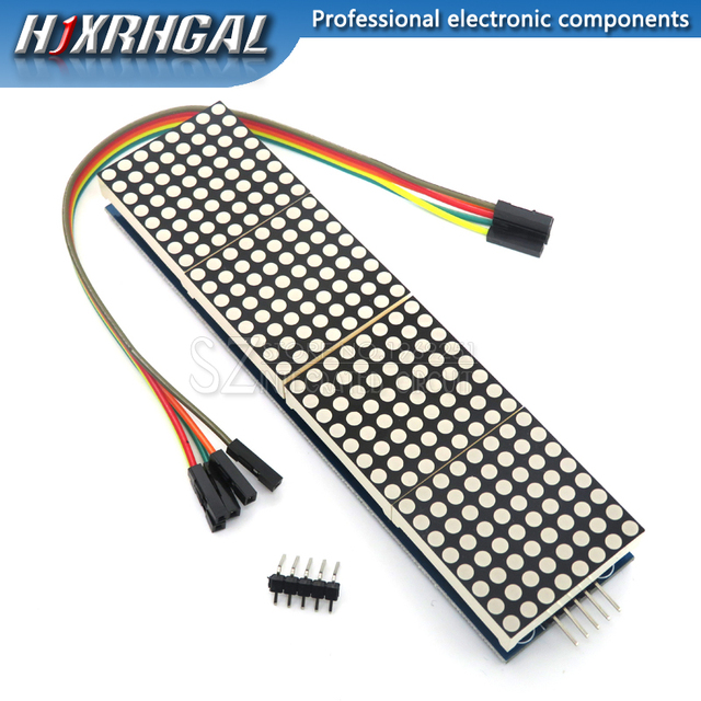 1PCS MAX7219 Dot Matrix Module For Arduino Microcontroller 4 In One LED Display with 5P Line MAX7219 display 8x8 matrix Red