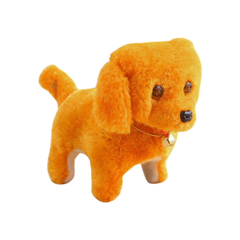Cute Walking Barking Toy Funny Electric Short Floss Electric Moving Dog Children Kids Toys Random Color @ZJF