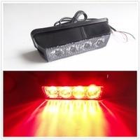 New Video 12v 24V Universal 1X4LED Car Amber Emergency Flash Strobe Light Bulbs Waterproof Work Lights