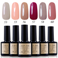 Nail Polish 6pcs Soak Off UV Nail Gel Polish Nude Color Led Gel Varnish DIY Nail Art Salon Gel Lacquer