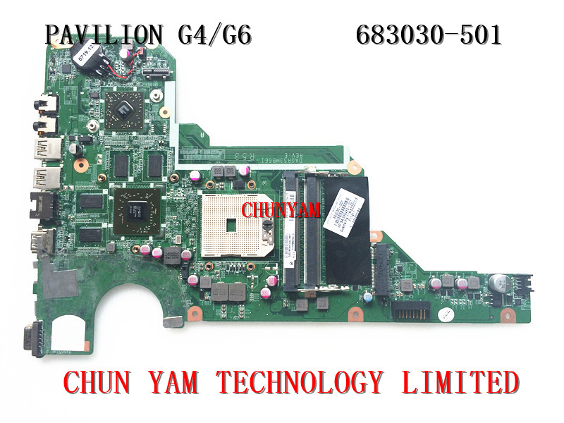 ФОТО original 683030-501 FOR HP Pavilion G4 G6 series motherboard 683030-001 DA0R53MB6E1 7670/1G mainboard 90Days Warranty 100%tested