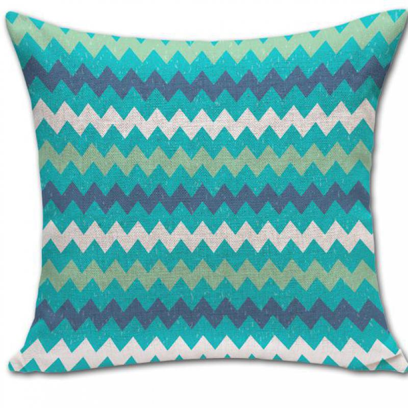 Free Shipping Wholesale Custom Modern Minimalist Geometric Plaid Patterns Linen Throw Pillow Cushion For Home Decor