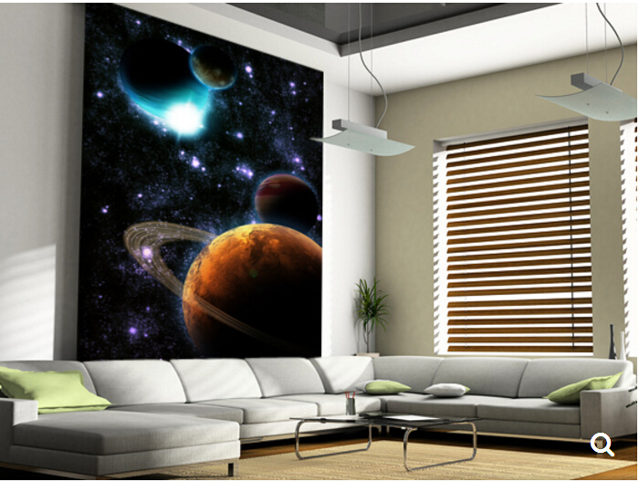 Custom papel de parede infantil,Solar flares, stars Nebula,3D Cartoon children's room ceiling mural for bedroom Vinyl wallpaper обои 3d papel de parede infantil mural tapete