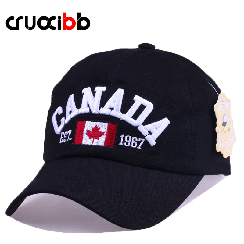 CRUOXIBB Men's Baseball Caps Unisex Cotton Canada Embroidery Letter Hat Snapback  Bone Casual Dad Hat 2017 New Arrivals Brand cntang summer embroidery letter w baseball cap fashion cotton snapback for men women trucker hat unisex casual caps gorras